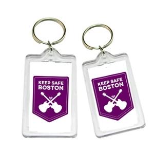 Keep Safe Boston keychain